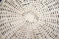 White wicker straw, circular pattern, background. Royalty Free Stock Photo