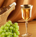 White wine composition Royalty Free Stock Image