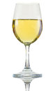White wine in glass Stock Photography
