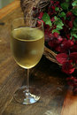 White Wine in Glass Stock Photos