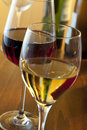 White wine and red wine Stock Photo