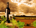 Biele víno a západ slnka