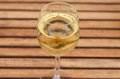 White wine on table linear pattern Stock Photo