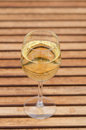 White wine on table linear pattern Stock Image