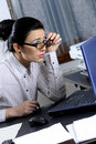 White woman working Stock Images