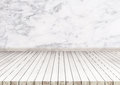White wood floor with marble stone wall texture. texture background