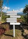 White wood signpost arrows blank