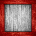 White wooden background in red wood frame Royalty Free Stock Photo