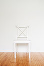 White wooden chair empty interior with Royalty Free Stock Photo