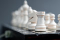 White wooden chess Royalty Free Stock Photos