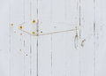 White wooden door hinge Royalty Free Stock Photo