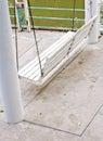 White wooden swing Stock Photo