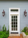 White wooden vintage door Stock Images