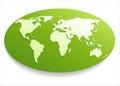 White world map. Royalty Free Stock Photo