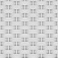 White woven rattan decor background the d render Royalty Free Stock Images