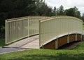 White Wrought Iron Bridge Royalty Free Stock Photo
