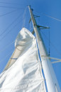 White yacht sails Royalty Free Stock Images