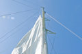 White yacht sails Stock Image