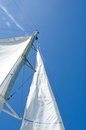 White yacht sails Royalty Free Stock Photography