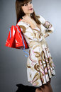 White young woman shopping Royalty Free Stock Images