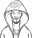 Whiteboard drawing - cartoon hip-hop performer Royalty Free Stock Photo