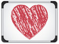 Whiteboard with Heart  written with Chalk Royalty Free Stock Photography