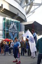 Whitecaps fc supporters in front of bc stadium vancouver Stock Images