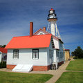Whitefish Point Light Station Stock Image