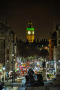 Whitehall, looking to Big Ben London, England, UK Royalty Free Stock Photo