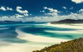 Whitehaven beach in australia the whitsundays archipelago queensland Stock Images