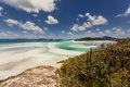 Whitehaven beach in australia the whitsundays archipelago queensland Stock Image