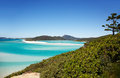 Whitehaven beach hill inlet lookout beautiful landscape scene of popular australian tourism destination taken from whitsundays Royalty Free Stock Image