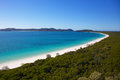Whitehaven beach in whitsundays the queensland australia Stock Photos