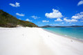 Whitehaven beach whitsundays in the whitsunday islands in australia Royalty Free Stock Photos