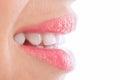 Whiten flat teeth Royalty Free Stock Photo