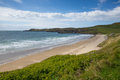 Whitesands bay west wales uk beach st brides in the pembrokeshire coast national park the pembrokeshire coast path passes Stock Images