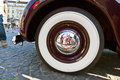 Whitewall tyre of oldtimer opel admiral at the oldtimercity in frankfurt am main germany oct meeting on oct germany wheels an Stock Photo