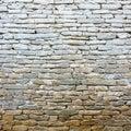 Whitewash old stone wall Royalty Free Stock Photo