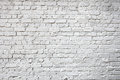 Whitewashed brick city wall for background