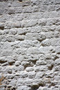 Whitewashed Brick Wall Stock Photo