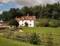 Whitewashed English Rural Farmhouse Royalty Free Stock Photo