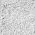 Whitewashed Old Brick Wall Uneven Bumpy Rough Rustic Background Royalty Free Stock Photo