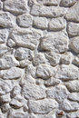Whitewashed stone wall irregular Royalty Free Stock Photos