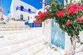 Whitewashed streets on Paros, Greece Royalty Free Stock Photo
