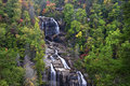 Whitewater falls in north carolina in the fall season Stock Image