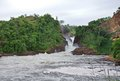 Whitewater at the murchison falls raging torrent in uganda africa Stock Image