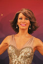 Whitney Houston Wax Figure Stock Photos