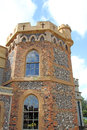 Whitstable castle towers photo showing section of historic turret with ornate stone work photo taken th april Royalty Free Stock Photos