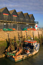 Whitstable Harbour sunrise. Royalty Free Stock Photo