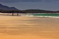 Whitsunday Island beach walk Royalty Free Stock Photo
